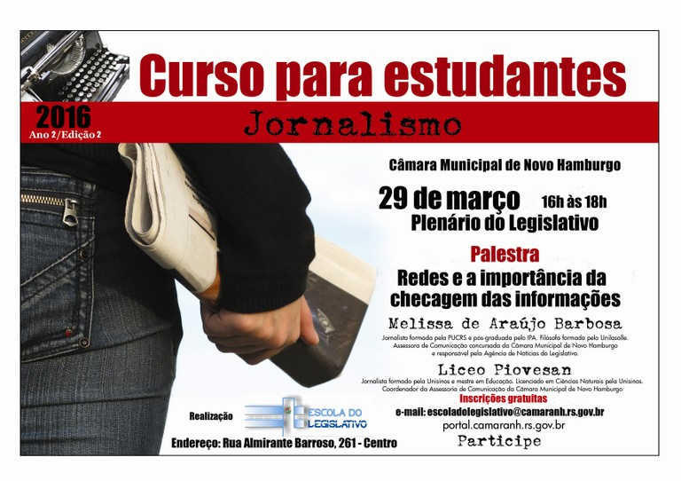 Curso para estudantes de jornalismo 2016