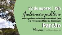 Câmara realizará audiência pública sobre poda de árvores e Plano de Manejo do Parcão