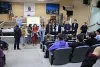 Escolas Adolfina Diefenthaler e João Goulart participam de palestra do Vereador Mirim