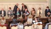 Presidente representa a Câmara em lançamento de selo Brasil-Luxemburgo no Palácio Piratini