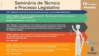 Câmara sediará debate sobre técnica legislativa e os limites da iniciativa parlamentar