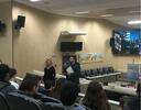 02/07/2018 - Professor Issur Koch palestra para alunos do projeto Vereador Mirim