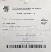 03/04/2019 - Fernando Lourenço requisita informações sobre descontos em contas de água