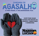03/05/2017 – Gabinete: Naasom Luciano realiza campanha do agasalho