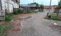 03/09/2018 - Vereador Nor Boeno pede melhorias para rua sem asfalto e colocação de extensão de rede esgoto