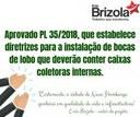 03/10/2018 - Aprovado projeto de Enio Brizola que determina a instalação de caixas coletoras em bocas de lobo