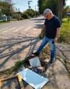 04/10/2019 - Vereador Nor Boeno requer conserto de infiltração junto a praça na rua Sevilha
