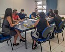 05/03/2021 - Gustavo Finck participa de reunião para implementação de projeto que prevê auxílio às mulheres vítima de violência