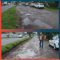 05/06/2019 - Vereador Nor Boeno solicita operação tapa-buracos na avenida Reinaldo Kayser