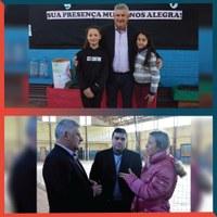 05/07/2019 - Nor Boeno acompanha eleições do Projeto Vereador Mirim na escola Eugênio Nelson Ritzel