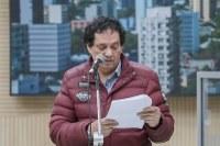 05/11/2019 - Vereador Inspetor Luz solicita reposição de tampa de boca de lobo na esquina da rua Marcílio Dias com a avenida Pedro Adams Filho