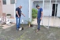 06/11/2019 - Vereador Nor Boeno requer conserto de infiltração em calçada na rua Campo Bom