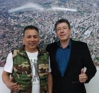 07/11/2019 - Serjão recebe visita de empresário hamburguense