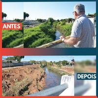 09/07/2019 - Atendido pedido de Nor Boeno de desassoreamento do arroio Pampa
