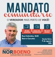 09/08/2019 - Vereador Nor Boeno realiza Mandato Comunitário na noite desta sexta