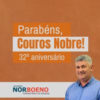 10/09/2018 - Vereador Nor Boeno parabeniza a empresa Couros Nobre pelo seu 32º aniversário