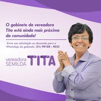 11/04/2019 - Gabinete da vereadora Tita agora também atende pelo WhatsApp