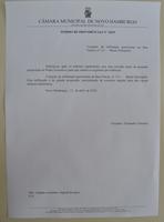 12/04/2019 - Fernando Lourenço solicita conserto de infiltração em rua do bairro Petrópolis