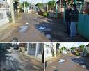 12/07/2018 - Nor Boeno pede melhorias em rua do bairro Santo Afonso após três semanas de chuva