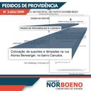 12/07/2019 - Nor Boeno solicita iluminação pública em trechos da rua Alonso Berwanger em Canudos