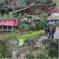 14/06/2017 - Gabinete: Nor Boeno visita local sem rede de esgoto no bairro Vila Nova