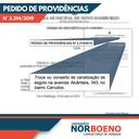 14/08/2019 - Nor Boeno solicita intervenção em canalização de esgoto na avenida Alcântara