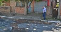 14/11/2017 - Gabinete: Vereador Nor Boeno solicita conserto de vazamento em rua de Canudos