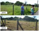 16/05/2018 - Atendido pedido de Nor Boeno por cercamento e limpeza de terreno no bairro Liberdade