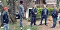 17/08/2017 - Gabinete: Vereador Nor Boeno visita vila de Lomba Grande sem rede de esgoto pluvial