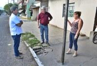19/06/2019 - Nor Boeno solicita conserto de infiltração em passeio público da rua Sílvio Gilberto Christmann