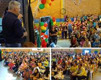 19/12/2018 - Nor Boeno recebe os agradecimentos da escola Trancredo Neves pela destinação de R$ 10 mil