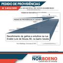24/07/2019 - Vereador Nor Boeno solicita limpeza de espaço a fim de evitar depósito irregular