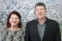 24/10/2019 - Sergio Hanich recebe visita da futura Cidadã de Novo Hamburgo