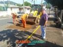 25/04/2018 - Vereador Gabriel Chassot visita obras no bairro São José