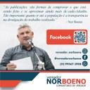 25/07/2019 - Nor Boeno defende a presença do político nas ruas e o uso das redes sociais para prestar contas à população