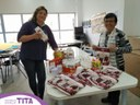25/07/2019 - Tita entrega doações da Rede Integrada Laço Lilás ao Grupo de Mulheres da Oficina de Culinária da Praça CEU