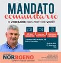 27/03/2019 - Vereador Nor Boeno realiza Mandato Comunitário nesta quinta-feira