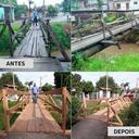 27/04/2018 - Prefeitura atende pedido de Nor Boeno e entrega nova passarela sobre o arroio Pampa