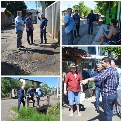 27/11/2018 – Vereador Nor Boeno encaminha demandas da comunidade ao secretário de Obras durante visitas