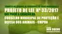 Gabinete: Nor Boeno cria PL que institui o Conselho Municipal de Proteção e Defesa dos Animais no Município