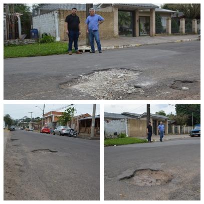 27/07/2018 - Vereador Nor Boeno solicita operação tapa-buraco em rua do bairro São Jorge
