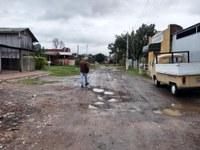 02/07/2020 - Vereador Nor Boeno solicita patrolamento de rua após chuva de terça-feira