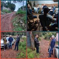 23/05/2019 -  Vereador Nor Boeno visita os bairros Canudos e São José junto ao secretário de Obras